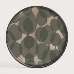CONNECTED DOTS GLASS TRAY-RO/S