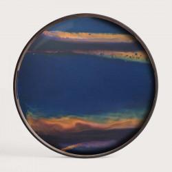 INDIGO ORGANIC GLASS TRAY-RO/S
