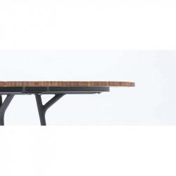 Tabouret About a stool AAS32 Hay structure noire / pietement Chène / repose pied chromé / hauteur 75