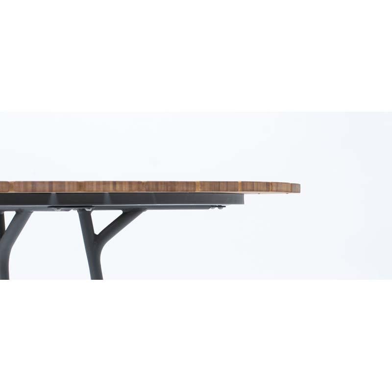 Tabouret About a stool AA32 Hay structure noire / pietement Chène savonné / repose pied chromé / hauteur 85