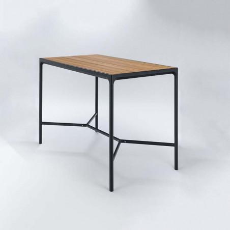 Tabouret About a stool AA38 Hay structure noire / pietement acier noir / hauteur 76
