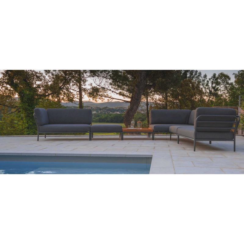 About A Chair AAC 23, HAY base 4 pieds en bois de chêne savonné / plein capitonnage Remix gris (133), patins feutre