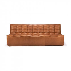 N701 CANAPE 3 PLACES CUIR