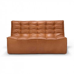 N701 CANAPE 2 PLACES CUIR