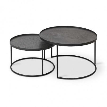 SET TABLES BASSES PLATEAUX RONDS S/L (PLATEAUX NON INCLUS)